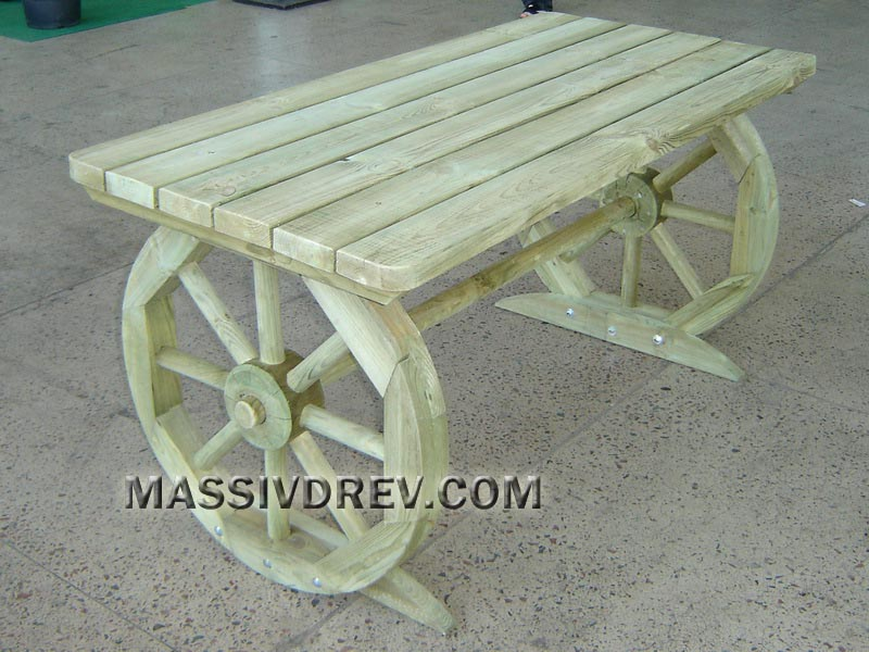 """стол деревянный """"Колесо"""""""